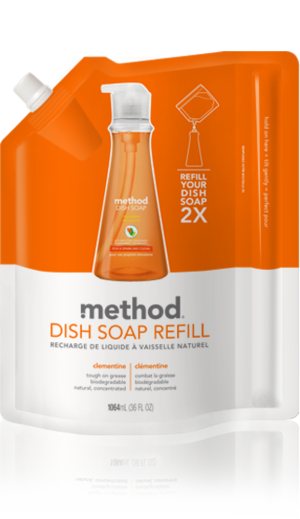 Method Washing Up Liquid Clementine Refill