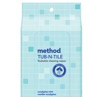 Method Flushable Bathroom Wipes Eucalyptus Mint